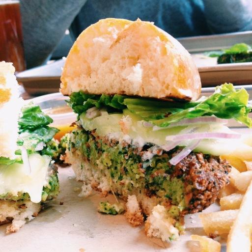 """The """"Green"""" Burger (falafel)"""