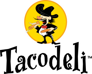 Tacodeli logo.