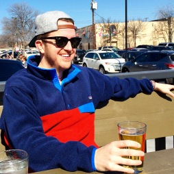 Chillaxin' on the patio in February