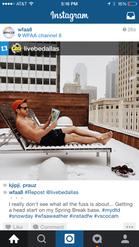 I was pretty pleased that WFAA reposted my photo.