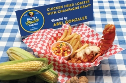 For the first time in Big Tex Choice Awards history, lobster has made its way on the menu. Adding a flair of fair to a traditionally sophisticated dish, this seafood spread includes an entire lobster tail, breaded and deep fried to perfection. Served with a rich sauce combining lemon butter and champagne gravy, the Chicken Fried Lobster is not your typical carnival concoction. With the lavishness of a lobster dinner and the fried factor of a traditional fair food, this dish will satisfy both a fondness for fanciness and a craving for the classics.