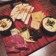 DOWN SOUTH MEZZE- boiled peanut hummus, 3 cheese pimento, charcuterie of the moment, grilled flat bread, benne wafers