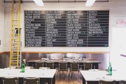 Veggie blackboard updated daily.