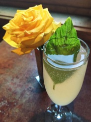 Pegasus cocktail with the yellow rose of Texas - representing friendship.