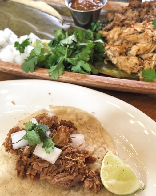 Tacos for Two! Chicken Tinga and Brisket