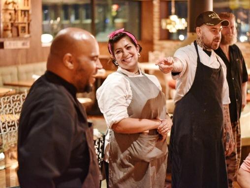 Executive Chef Justin Box introducing his BOH power squad! Kudos, team.