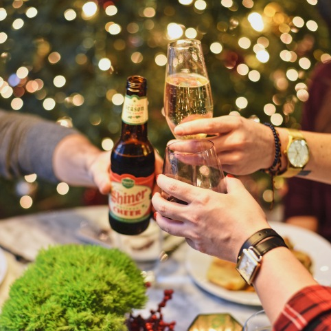 Cheers to Eatzi's for making this Christmas party simple as can be!