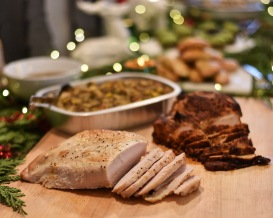 I love serving just the breast of the turkey - no need to worry about bones and carving a turkey! Both the Oven Roasted and Cajun turkey breasts are moist and out-of-this-world flavorful.